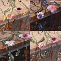 135cmX100cm Spitze Stoff Organza Chiffon Blumen Rosa Stickerei Hochzeit Dekor