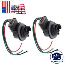 2 4157 Brake Turn Signal Light Socket Harness Wires For LED or Stock3157 3357