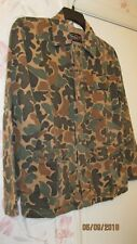 US Vietnam type Special Forces Advisor Sears Duck Hunter Camo Shirt  Small