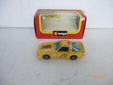 RARE MAZDA RX7  Yellow  par BURAGO 4118 au 1/43 IN BOX