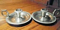 Restoration Hardware Silver Plate Candle Stick Holders w/Handle High Quality  97