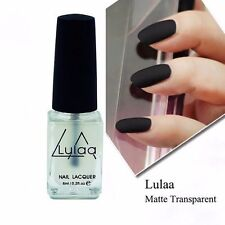 Nail Art Matte Transfiguration Nail Polish Top Coat Frosted Surface Oil 6ml