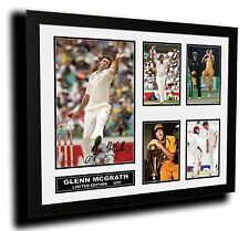 GLENN MCGRATH SIGNED LIMITED EDITION FRAMED MEMORABILIA