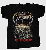 OBITUARY-The End Complete Rock Black Men S-234XL Christmas T-shirt L237