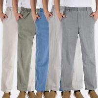 NEW Mens Casual  Elastic Waist Loose Pants Beach Drawstring Long SLACKS Trousers