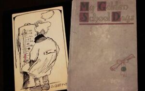 Walt Disney Childhood Drawings 7th Grade School Book 1917 / 2003 Facsimile
