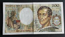FRANCE - FRANCIA - FRENCH NOTE - BILLET DE 200 FRANCS MONTESQUIEU 1984 SUP.