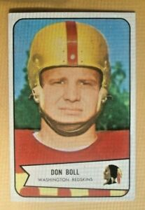 1954 BOWMAN FOOTBALL CARD set break #80 DON BOLL-RC-EXC+  low shp charge
