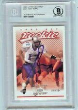 TONY ROMO 2003 Upper Deck MVP ROOKIE RC AUTO SIGNED BAS BECKETT SLABBED #341