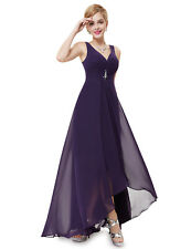 Ever-Pretty V Neck Black Evening Cocktail Long Maxi Dresses 09983 Size 4 Dark Purple 12