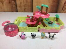 Littlest Pet Shop TEENIEST TINIEST MINI POP UP COMPACT Jungle Paradise & Pets