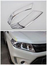 2PCS ABS Chrome headlight front lamp cover trim for Suzuki Vitara 2015 2016