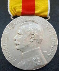 ✚9329✚ German WW1 Baden Silver Medal of Merit Silberne Verdienstmedaille