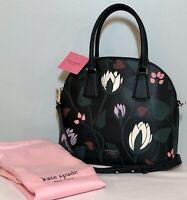 "KATE SPADE Dome Satchel Crossbody Handbag ""Silvia Deco Bloom"" Black Multi NWT"