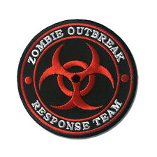 Embroidered Zombie Outbreak Response Team Red Sew or Iron on Patch Biker Patch