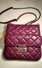 NWT MICHAEL KORS (Plum) Sloan Crossbody Swing Pack Quilted Leather Retail $268