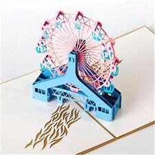 Handmade 3D Pop Up Greeting Card Ferris Wheel Symbol Never-ending Love Birthday