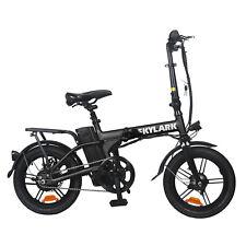 NAKTO Skylark Folding Electric Bicycle  36V 10Ah lithium Battery, BLACK
