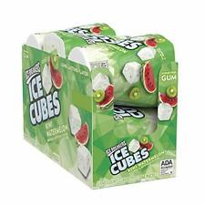 New listing Ice Breakers Ice Cubes Sugar FreeChewingGum with Xylitol Kiwi Watermelon 40.