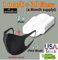 aerosilver 1 Face Mask + 30 refill filters, Dry&Cool, Reusable, Made In Korea