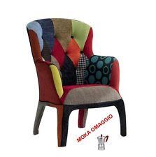 TABLES&CHAIRS Poltrona multicolore in tessuto colorata comoda da ufficio 653