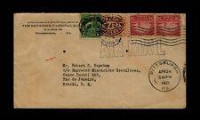 1933 Keystone Bank to Rio de Janeiro 50cent Airmail cover to Emprezas Electricas