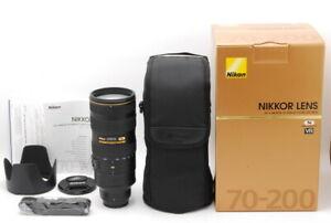 """""""Top Mint"""" Nikon AF-S 70-200mm F/2.8 G ED VR II Zoom Lens From Japan D917"""