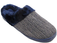 MENS WINTER WARM FUR LINED KNITTED LUXURY SLIP ON SLIPPERS SHOES SIZES UK 6-11