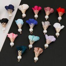 10pcs 30mm Tassel Flower Pearl Charms Pendant DIY Earrings Jewelry Findings