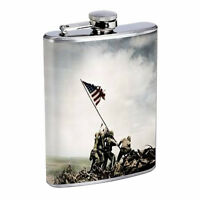 Michigan Flask D1 8oz Hip Stainless Steel State Flag Drinking Whiskey Liquor