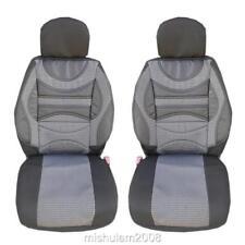 Schwarz Stoff für Fiat Ford Honda Mazda 2x vordere Sitzbezüge Schonbezüge Blau