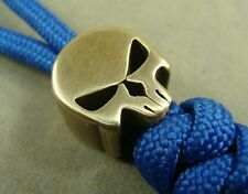 Skull shape Solid Brass Lanyard bead paracord Knife bead 6mm Hole Beads