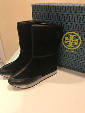 NIB Tory Burch Balfour Fur Winter Boots Black 8M