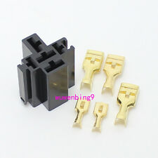 10 sets - 80A 5Pin auto Relay Socket car relay holder copper terminal