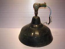 Ancienne applique orientable, abat-jour, lustre, tôle émaillée, diam. : 40 cm