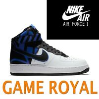 NIKE AIR FORCE 1 AF1 HIGH & MID GAME ROYAL BLACK 917753 806403