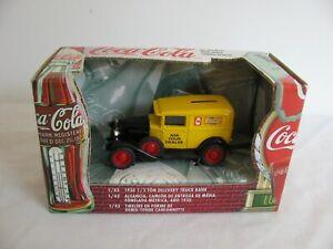 Ertl Diecast 1/43 Coca-Cola 1930 Chevrolet 1/2 Ton Delivery Truck Coke Coin Bank