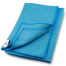 Mikrofaser Trockentuch, Premium Waffeltuch (2 St., 60x40 cm, Blau) streifenfrei