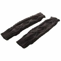 Womens Cashmere Protection Knitted Wool Long Fingerless Arm Warmers Gloves P2G2