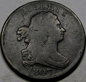 1807 Draped Bust Half Cent Choice F-VF...Nice and Original, Nice Early Half Cent