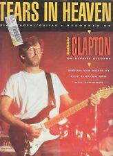 Tears In Heaven - Eric Clapton -  1991 US Sheet Music