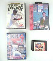4 Games Sega Genesis Sports Games 95 ESPN NFL 95 Football Triple Play RBI 4