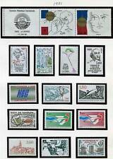 FRANCE 1981 x15 STAMPS looks like ALL MNH BIRDS, FENCING, SHIPS