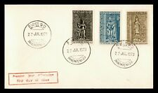 DR WHO 1973 KHMER REPUBLIC CAMBODIA FDC SCULPTURES 158945