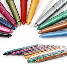AU STOCK 12 Color Eyeliner Pencil Cosmetic Makeup Pen Set Eye Shadow Glitter NEW
