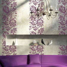 Damask Stencil Flower Arielle Reusable stencils for decor just like wallpaper
