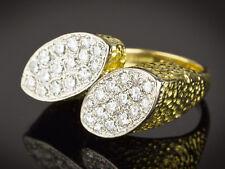 18 Carat Gold 32 Diamond Double Oval Ring