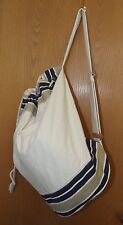 """Canvas Cotton Large Beach Sport Tote Bag  19"""" x 11"""" NEW"""