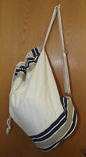 "Canvas Cotton Large Beach Sport Tote Bag  19"" x 11"" NEW"