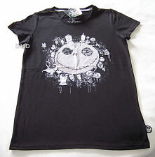 The Nightmare Before Christmas Ladies Black Printed T Shirt Size S New